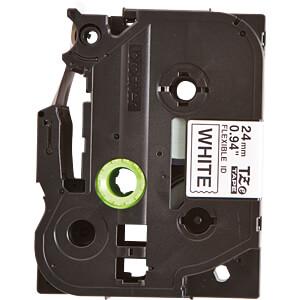 Flexi-Tape, schwarz auf weiß, 24mm BROTHER TZE-FX251
