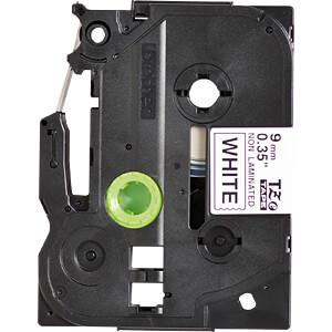 TZE-tapecassette, 9 mm, zwart/wit BROTHER TZE-N221