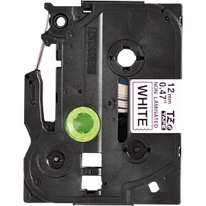 TZE-tapecassette, 12 mm, zwart/wit BROTHER TZE-N231