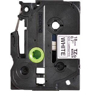 TZE Schriftbandkassette, 18 mm, schwarz/weiß BROTHER