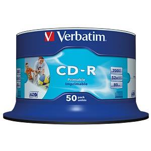 Verbatim CD-R 700MB/80min, 50-er, printable VERBATIM 43438