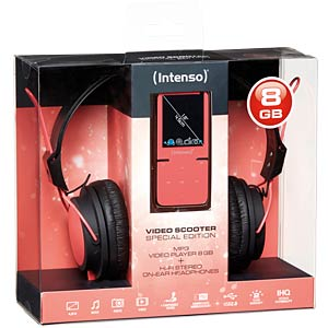 MP3 Player 8GB, pink mit Kopfhörer (Aktion) INTENSO 3717763 SP