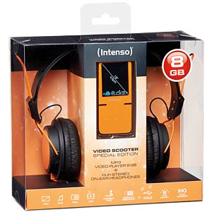MP3 Player 8GB, orange mit Kopfhörer (Aktion) INTENSO 3717765 SP