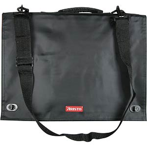 Zeichentasche A4, schwarz, Innenseite rot ARISTO AR7064