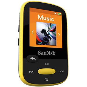 MP3-Player, Clip Sport, 8GB, gelb SANDISK SDMX24-008G-G46Y