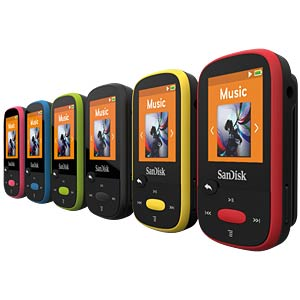 MP3-Player, Clip Sport, 8GB, blau SANDISK SDMX24-008G-G46B
