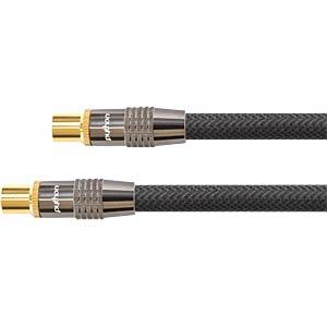Anschlusskabel, IEC, Stecker, Kupplung, Nylon, 5 m PYTHON GC-M2015