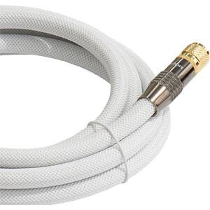 Anschlusskabel, F-Stecker, Nylon, weiß, 15 m PYTHON GC-M2028
