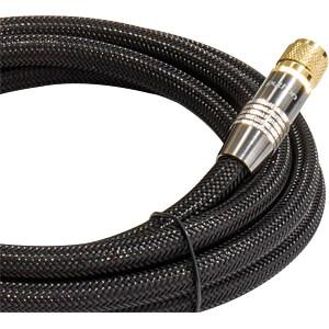 Anschlusskabel, F-Stecker, Nylon, schwarz, 1,50 m PYTHON GC-M2032