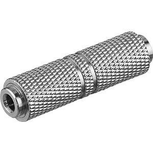 GOOBAY 11884 - Kopfhörer Adapter / AUX Klinke 3,5 mm Buchse zu Buchse / Zink