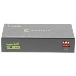 HDMI Splitter, HDMI Buchse auf 4x HDMI Buchse, UHD KÖNIG KNVSP3434