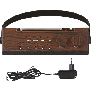 Digital Radio DAB+ UKW 15 W, Bluetooth®, braun / schwarz NEDIS RDDB4320BN