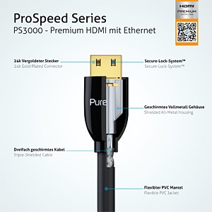 HDMI Kabel - ProSpeed 1,80m PURELINK PS3000-018