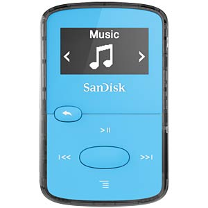 MP3-Player, Clip JAM, 8GB, blau SANDISK SDMX26-008G-G46B