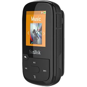 MP3-Player, Clip Sport Plus, 16GB, schwarz SANDISK SDMX28-016G-G46K