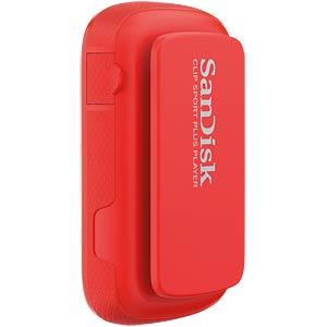 MP3-Player Clip Sport Plus, 16GB, rot SANDISK SDMX28-016G-G46R