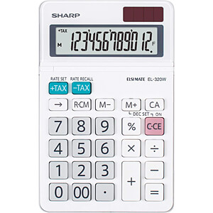 SHARP EL320W - Tischrechner kompakt SHARP EL-320W weiß