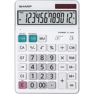 SHARP EL340W - Tischrechner SHARP EL-340W weiß
