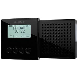 DAB + / FM radio outlet, black UBI_SOUND
