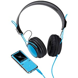 MP3 Player 8GB, blau mit Kopfhörer (Aktion) INTENSO 3717764 SP