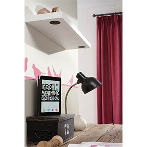 Wall shelf with integrated Bluetooth speakers DURALINE