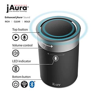Amazon Alexa-fähiger, portabler Lautsprecher ILUV AUDCLICKBK