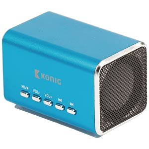 MP3 Reiselautsprecher, blau KÖNIG CSPSP100BU