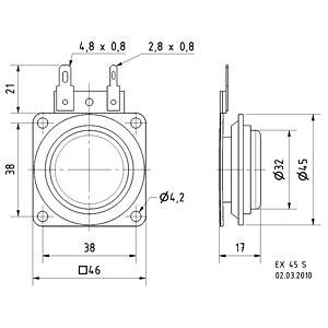 VISATON Elektrodynamischer Exiter. 4 Ohm VISATON 4503
