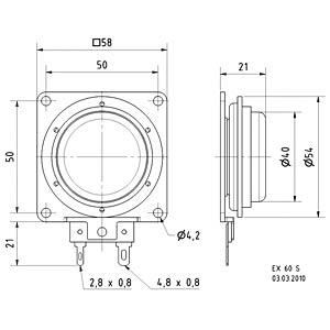 Körperschallwandler EX 60S, 25 W, 8 Ohm VISATON 4506