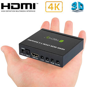 HDMI Audio-Extractor LPCM,7.1, 4K,3D TECHLY IDATA-HDMI-EA74K