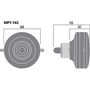 Piezo-Hochton-Treiber MONACOR MPT-142