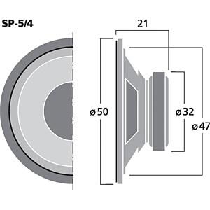 Universallautsprecher, 2 W, 4 Ohm MONACOR SP-5/4