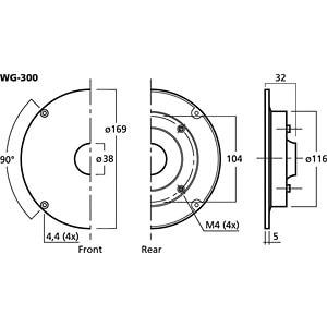 Spezieller Hornvorsatz (Wave Guide) MONACOR WG-300