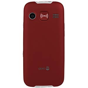 GSM mobile phone, red DORO 360081