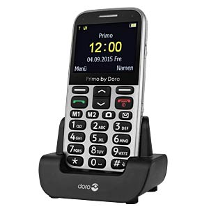 GSM mobile phone, silver DORO 360082