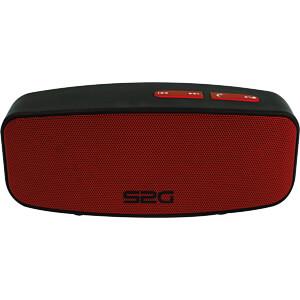 Bluetooth Lautsprecher schwarz/rot SOUND2GO 10130