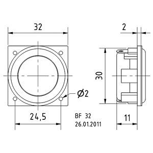 Lautsprecher, Breitband, 32 mm, 2 W VISATON 2249