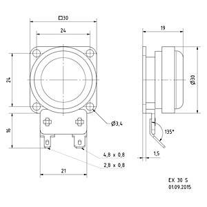 Elektrodynamischer Exiter EX 30S, 10 W, 8 Ohm VISATON 4532