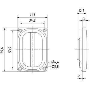Głośnik szerokopasmowy SC 4.6 FL, 4 W, 8 Ω VISATON 8036