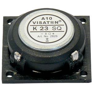 Kleinlautsprecher K 23SQ, 0,5W, 8Ohm VISATON 2826