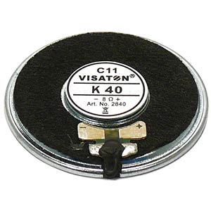 VISATON miniature speaker, 4.0cm, 50ohm VISATON 2841