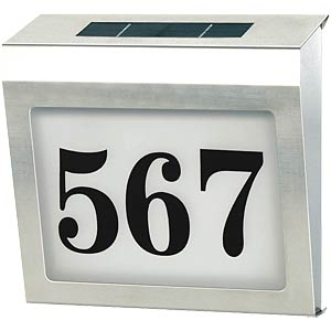 Solar house number light, stainless steel housing BRENNENSTUHL 1179810