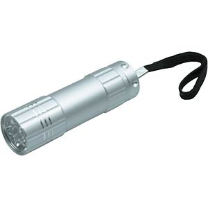 LED-Taschenlampe Nine, silber, 3x AAA (Micro) ESC