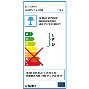 LED-Außenwandleuchte, Aluguss, anthrazit ECO LIGHT 1865 GR