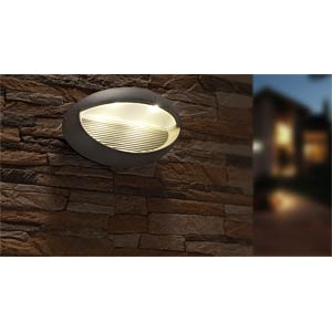 Wandleuchte, 9 W, 440 lm, 4100 K, anthrazit, IP54 ECO LIGHT 1865 GR