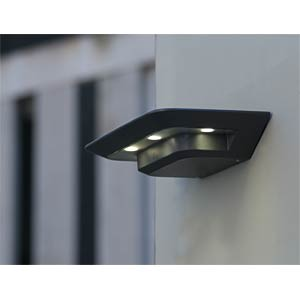Wandleuchte, 11 W, 700 lm, 4000 K, anthrazit, IP54 ECO LIGHT 1881 S GR