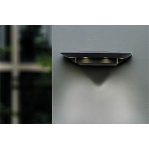 Wandleuchte, 7 W, 360 lm, 4000 K, anthrazit, IP54 ECO LIGHT 1880 S GR