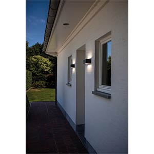 Wandleuchte, 9 W, 480 lm, 4100 K, anthrazit, IP54 ECO LIGHT 1891 S GR