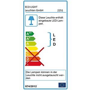 LED-Außenwandleuchte, Aluguss, anthrazit ECO LIGHT 2251 S GR