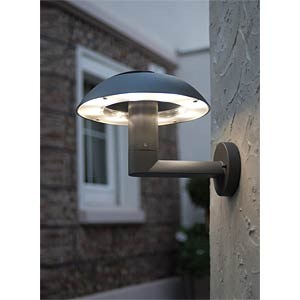 Wandleuchte, 8,4 W, 310 lm, 4100 K, anthrazit, IP54 ECO LIGHT 2251 S GR